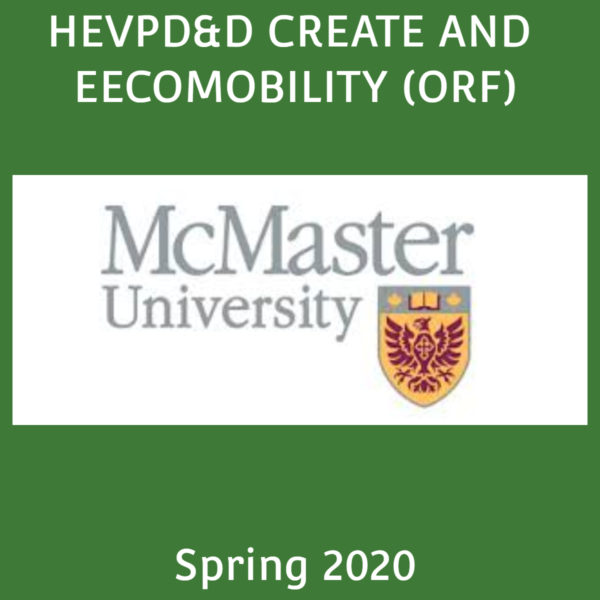 HEVPD&D CREATE and EECOMOBILITY (ORF) Workshop & Conference – Spring 2020