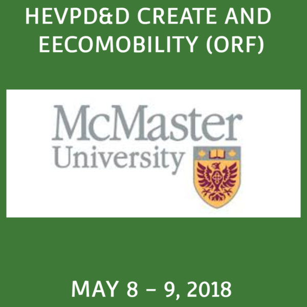 Past Event – HEVPD&D CREATE and EECOMOBILITY (ORF) Workshop & Conference 2018